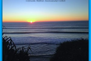 Sunday Sunrise At Coolum Boardwalk Sunshine Coast
